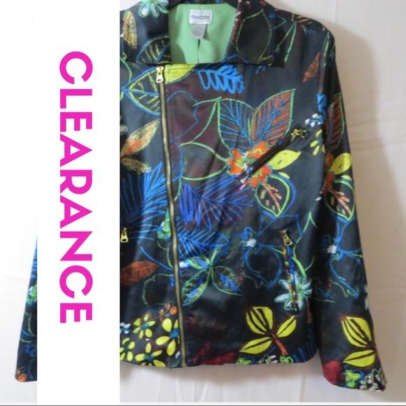 Chico's Jackets & Blazers - Chicos Pima Blazer Womens Size 1 Print